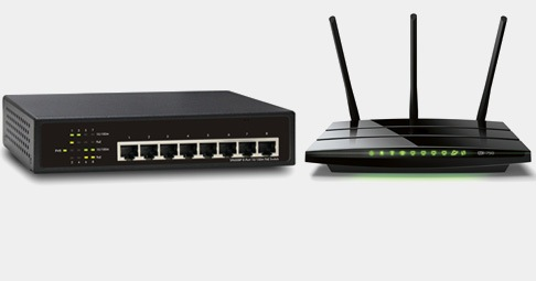 Al armar una red, mejor usa un router y un switch